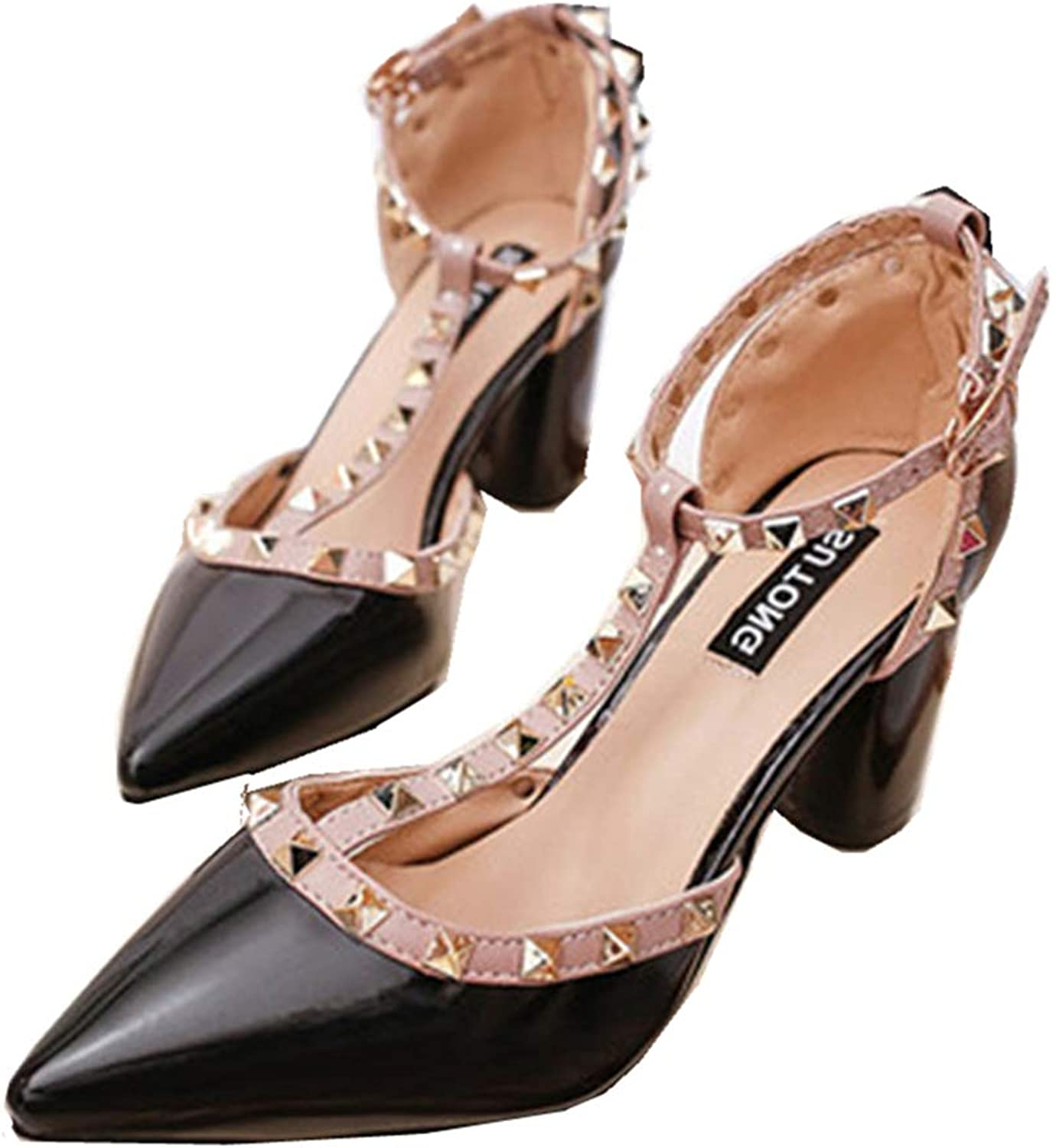 YYZHAO Women Formal Pointed Toe Sexy Elegant Slip On Dress shoes