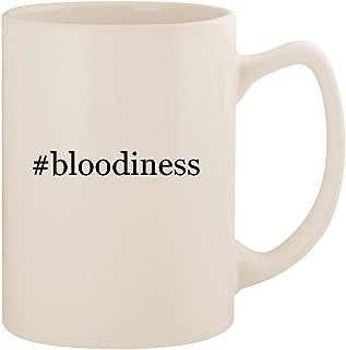 #bloodiness - White Hashtag 14oz Ceramic Statesman Coffee Mug Cup