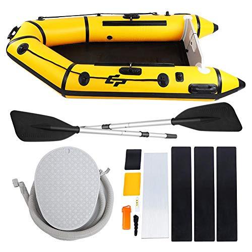 Alomejor Opblaasbare boot PVC mesh doek rubber vissen drijven duikgereedschap met pomp