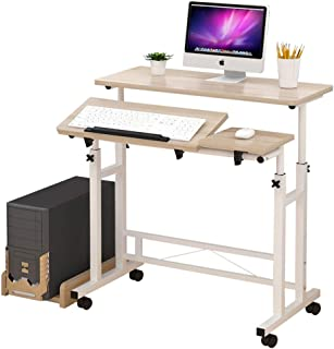 ZRL77y Mobile Stand Up Desk Computer DeskAdjustableRollingMobile Stand Ergonomic Desk Computer Workstation