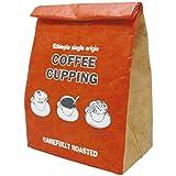 プライムナカムラ クラフトフード保冷バッグM (コーヒーカッピング) ショッピングバッグ ランチバッグ デザイン 不織布 保冷保温 (33cm×20cm×12cm)