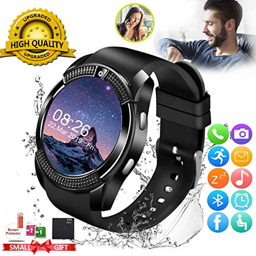 Smart Watch,Smartwatch for Android Phones, Smart Watches Touchscreen with Camera Bluetooth Watch Phone with SIM Card Slot Watch Cell Phone Compatible Android Samsung iOS Phone XS X8 10 11 Men Women