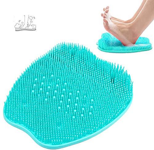 Scrubber Massaggiatore per Piedi,Pad Massaggio Doccia,Spazzola per Piedi Doccia con Ventose Antiscivolo e Design con Setole più Morbide per la Circola
