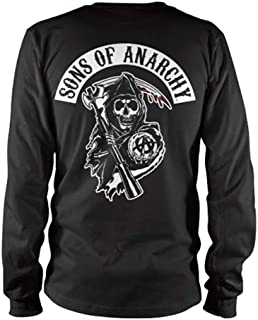 Officially Licensed Merchandise SOA Backpatch Long Sleeve T-Shirt (Black)