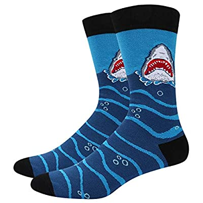 Zmart Funny Cool Shark Whale Narwhal Crew Socks, Novelty Gifts for Men
