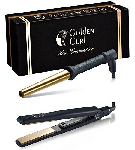Golden Curl Haarstyling-set, met dubbele spanning, voor alle haartypes goud