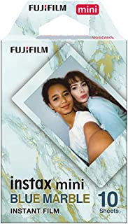 Fujifilm 16656461 Instax Mini Blue Marble Film 10 Sheet