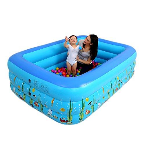Piscine gonflable pour enfants piscine gonflable pliante (Color : Blue, Size : 180cm)