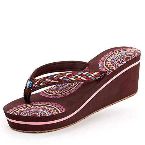 JYDAN Mujeres Chanclas De Cuña Zapatos