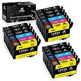 IKONG Kompatibel für druckerpatrone Epson T1291 T1292 T1293 T1294