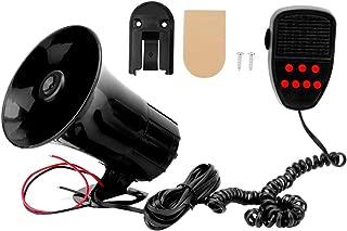 Fydun Seven Tone Alarm Horn Siren Speaker Motorcycle Black Alarm Horn for Car Truck 12V