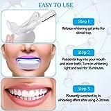 Zahnbleaching-Set von Kastiny mit 6 Bleaching-Stiften, 5 Bleaching-Strips und LED-Mundstück