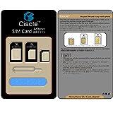 Ciscle Nano SIM MicroSIM 変換アダプター 4点セット
