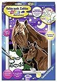 Ravensburger Malen nach Zahlen 27844- Pferde - Für Kinder ab 7 Jahren -