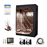 Hydro Plus 48''x24''x72'' Grow Tent Room Kit Indoor Plants Growing Reflective Mylar Dark Room Non Toxic Hut + Hydroponics Growing System Accessories (48''x24''x72'' Kit)