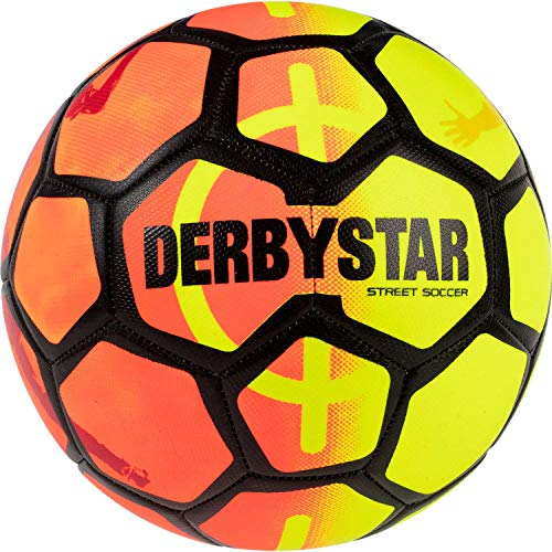 Derbystar Fussball Street Soccer Orange/Gelb/Schwarz 5