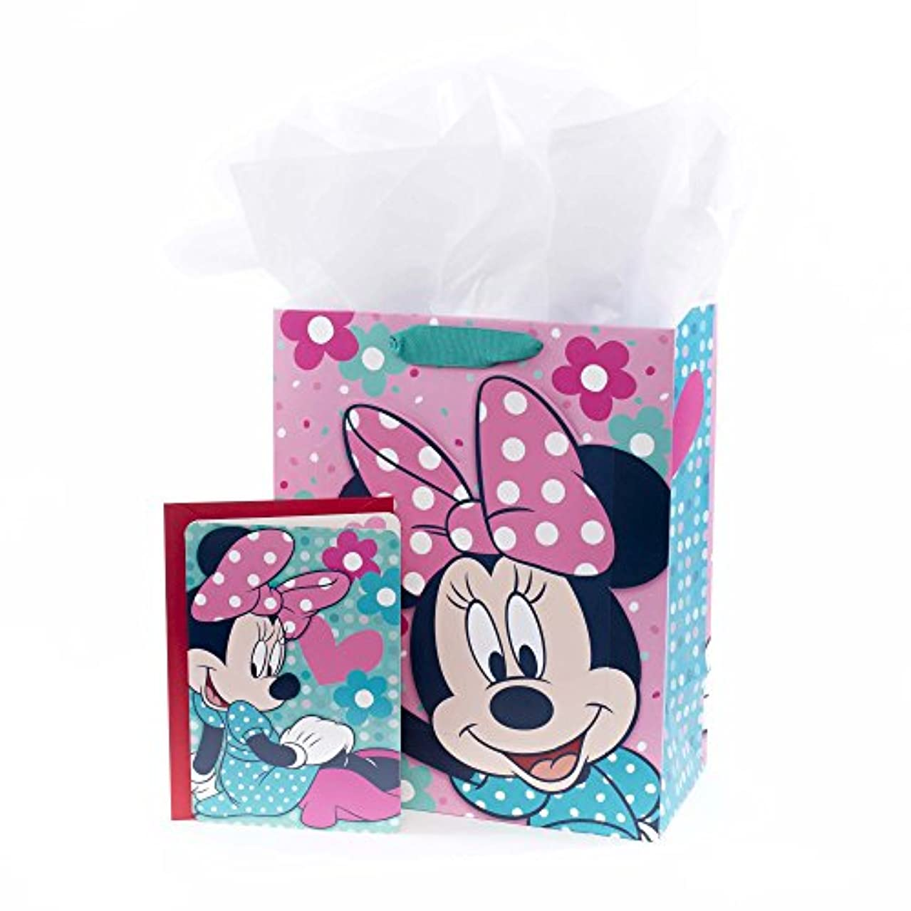 Hallmark Large Gift Bag with Birthday Card and Tissue Paper (Minnie Mouse)