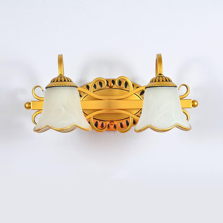 Badezimmerbeleuchtung Spiegel-vorderes helles Retro kreatives Badezimmer-Spiegel-Wand-Lampen-einfaches Badezimmer führte Spiegel-Kabinett-Lichter Licht ( Farbe   A-No light-4017cm )