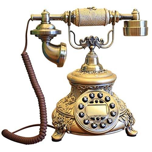 ZARTPMO Teléfono Fijo Teléfono Fijo Nórdico Decoración del Hogar Teléfono Metal Retro Cableado Fijo
