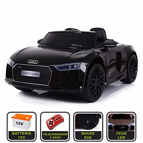 Voiture de sport électrique 12V pour enfant Audi R8 Spyder Cristom...