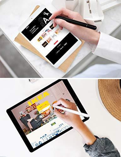 kimcrown Eingabestifte, Disc Stylus Pen Präzision Touchscreen Stift kompatibel für iPad, iPhone, Samsung Galaxy, Android Handy und Tablets (Schwarz+Weiß)