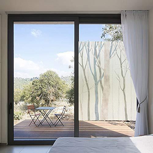 KBLTA Fensterfolie Bunte Holzversion Wasserdicht Sonnenschutz Transparent Undurchsichtig Bad Schiebetür Schlafzimmer Fenster Milchglasfolie