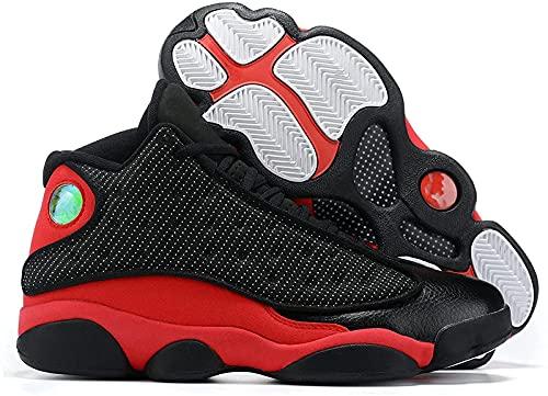 CPBY Men13 Transpirable Descompresión Nuevas Zapatillas De Baloncesto Calzado Deportivo Resistente Al Desgaste Transpirable, Red-Black - 8.5