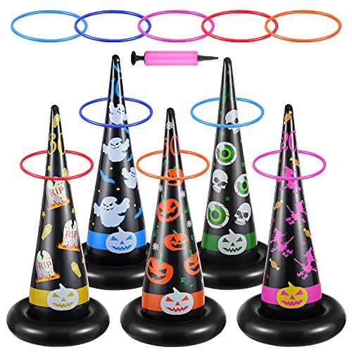 Toyvian Set di 5 anelli da strega, gonfiabili, per bambini, adulti e bambini