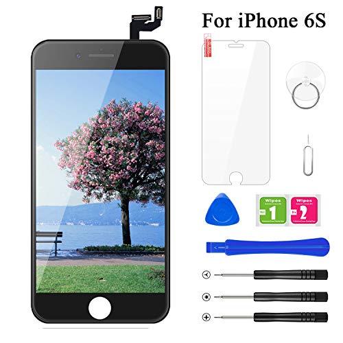 BuTure Kompatibel mit iPhone 6S Display Schwarz Ersatz Set, LCD 3D Touchscreen Digitizer mit Werkzeuge und Displayschutzfolie Für iPhone 6S