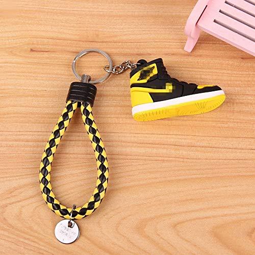 YSSZSS Basketballschuhe PVC Weichgummi 3D Schuhe Schlüsselanhänger Anhänger dreidimensionale Schlüsselanhänger (Gelb)