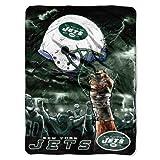 NFL New York Jets 60-Inch-by-80-Inch Plush Rachel Blanket, Sky Helmet Design