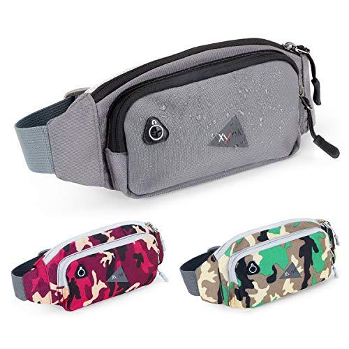 XynK Bauchtasche Sport - Mode Gürteltasche Für Jugendliche Jungs Mädchen in grau, stylisch - Größe S: 65-90 cm Verstellbarer Gurt - für Outdoor Wandern Joggen Alltag