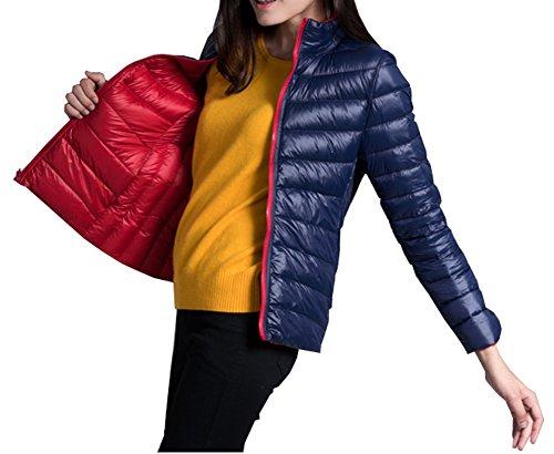 CYSTYLE Doppel Jacke Damen kurz ultraleichte Steppjacke Damen leicht Winterjacke Daunenmantel (EU XXS=Asia S, Stil 1)
