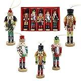 AMOR PRESENT Christmas Nutcracker Ornaments Set, 5PCS...