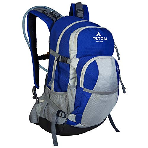 TETON Sports Unisex's Oasis 1200 Hydration Backpack with Bladder-Blue/Grey, 3 Litre