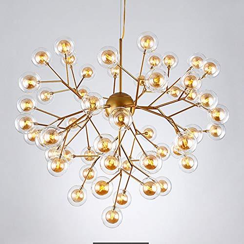 SWNN lámparas de araña Lámpara De Cristal Nórdica For Sala De Estar Lámpara De Restaurante Led Posmoderna Simple Personalidad Creativa Lámpara De Bola De Burbuja De Dormitorio 54 Diámetro De Cabeza 92
