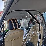車分離パーティション保護スクリーン、タクシードライバータクシー透明アンチ飛沫保護フィルム後列カーパーティションの保護カバー