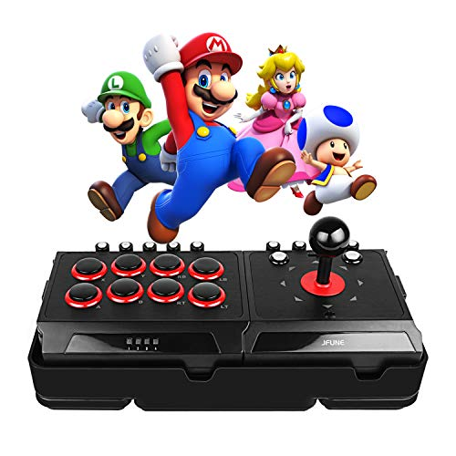 JFUNE Real Arcade Pro Fight Stick for Nintendo Switch/PS4/PS3/Android/PC, E-Sports Game Rocker Street Arcade Fighter