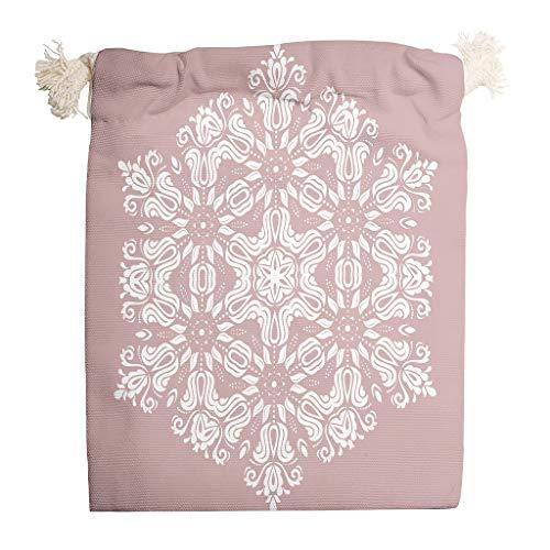 Bekende 6 Stks Misty Rose Mandala Opslag Canvas Tassen Duurzame Sachet Tassen past Thanksgiving Party Gift Wrap Tassen - Flower Style Print