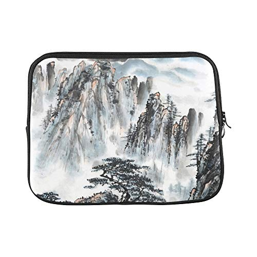 """Unique Custom Beautiful Traditional Chinese Painting Print Best Laptop Case Soft Girl Laptop Sleeve Briefcase Protective for MacBook Air 11"""""""