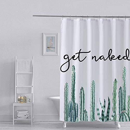 Get Naked Cactus Shower Curtain