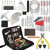 A/A Kit de herramientas de reparación de guitarra, 54 piezas, kit de herramientas de reparación de guitarra, kit de reparación de guitarra, para ukelele, bajo, mandolina, guitarra
