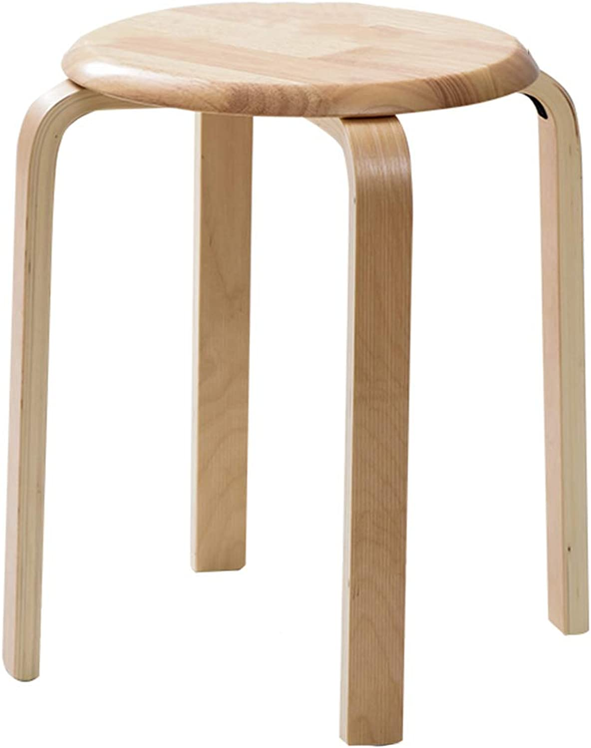 ZZHF dengzi Solid Wood Creative Heightening Round Stool Modern Dining Table Household Simple Low Stool Reinforce Non-Slip Sitting Stool (color   C)
