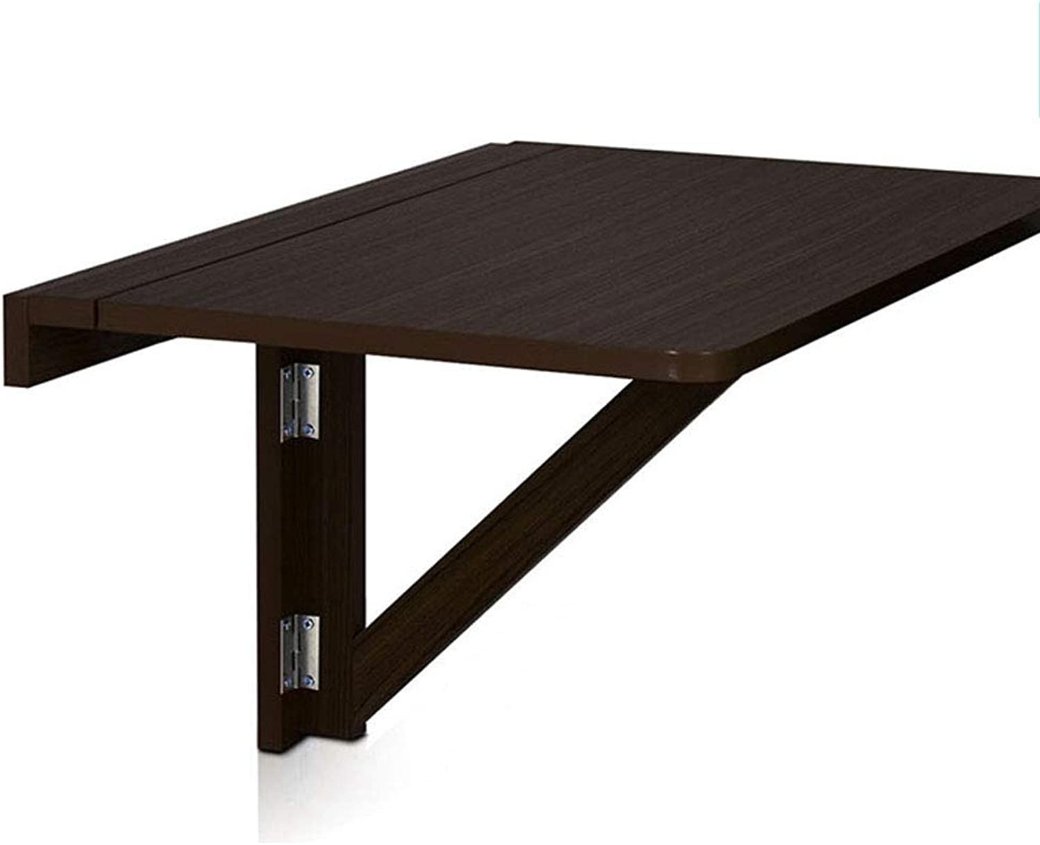 Virod-Desks Simple Folding Table Dorp-Leaf Table, Small Apartment Solid Wood Multifunction Simple Wall Mount Computer Desk, 2 colors Modern Style (color   Black)