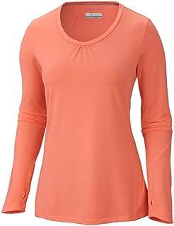 Columbia Sportswear Women's Trail Crush Long Sleeve Top, Coral Glow, X-Small