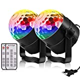 YouOKLight 6 Color Sound Activated Party Lights with Remote Control Dj Lighting,RBG Disco