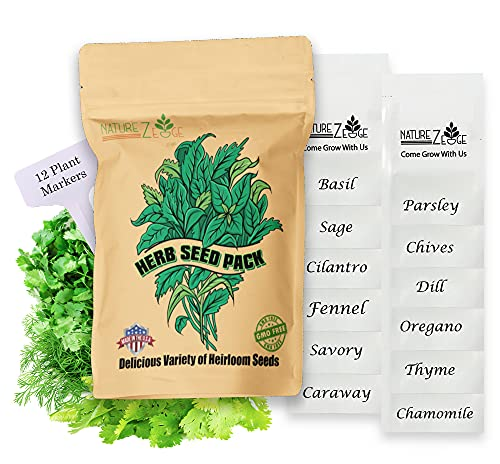 Heirloom Herb Seeds,12 Varieties, Over 6000 Seeds, Basil, Cilantro, Sage,...