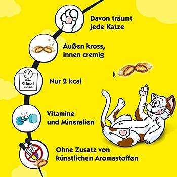 Dreamies classique chat Snack Selection Box avec poulet, fromage, bœuf et saumon,–Lot de 4(4x 4x 30g),
