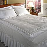 Blue Ridge Home Fashions Luxury 5' Down Pillowtop Featherbed, Queen, White
