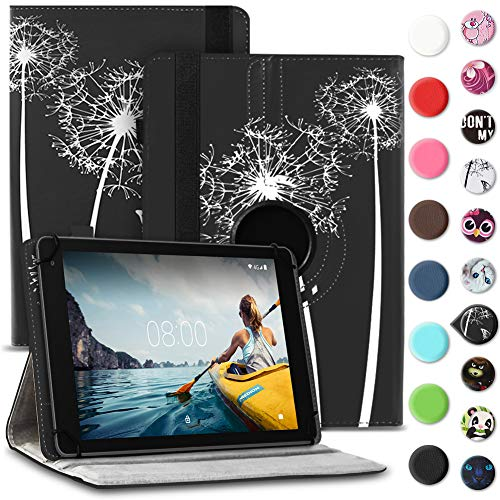 Tablet Hülle kompatibel für Medion Lifetab E6912 Tasche Schutzhülle Hülle Cover aus Kunstleder Standfunktion 360° Drehbar, Farben:Motiv 8